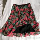 Casual Corner Annexkolorowa spódniczka w kwiaty róże