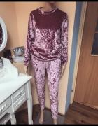 Welurowy różowa dres S M...