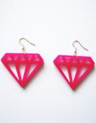 NOWE kolczyki diamenty różowe Glovestar emo pastel goth...