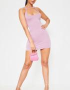 Sukienka dopasowana liliowa rozmiar S