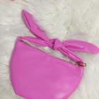 Mała torebka Asos węzeł różowa
