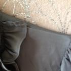 Koszula szara żabot drapowany dekolt grafitowa Xs s m 34 36 38 tania