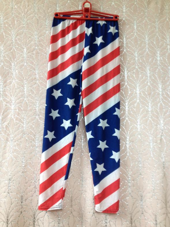 Legginsy flaga amerykańska USA xs s 34 36 tanie