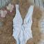 Biały strój kąpielowy ASOS rozmiar S