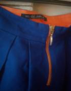 kobaltowa spódnica mini Zara S...