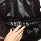 Torebka torba worek czarna skórzanopodobna frędzle
