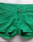 Szorty zielone S M 36 38 jeansowe jak nowe...
