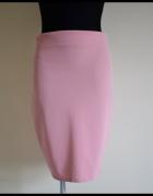 Spódnica ołówkowa pudrowy róż elastyczna 40 L...