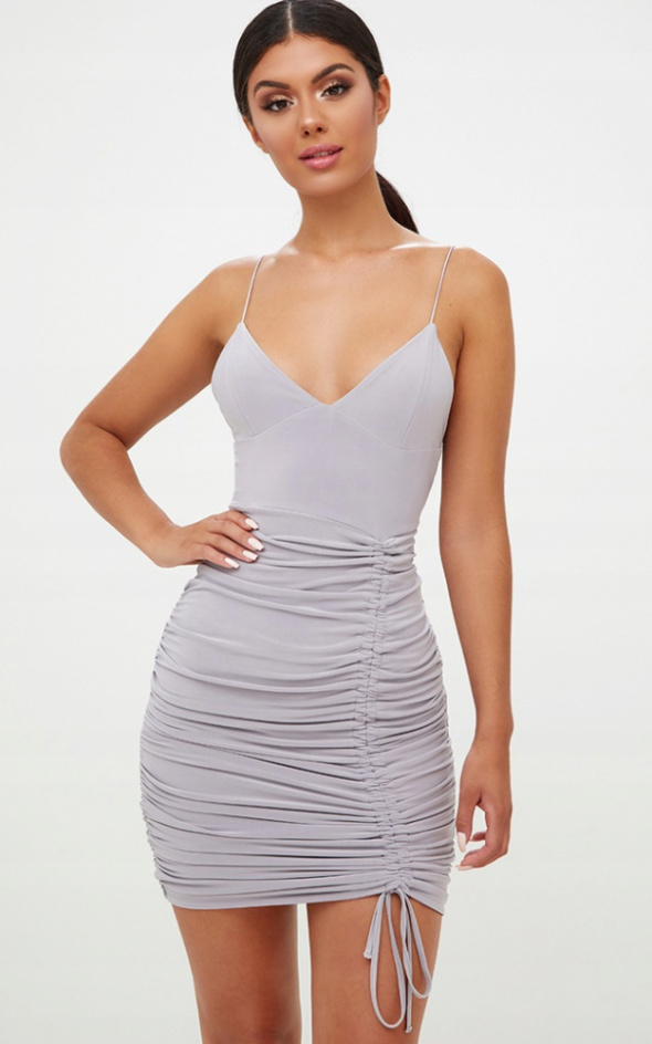Sukienka marszczona na ramiączka rozmiar L