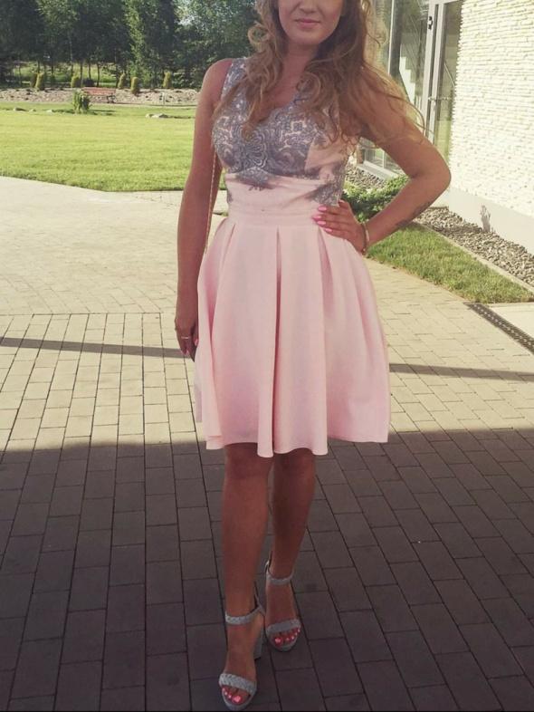 Elegancka sukienka wesele rozmiar M
