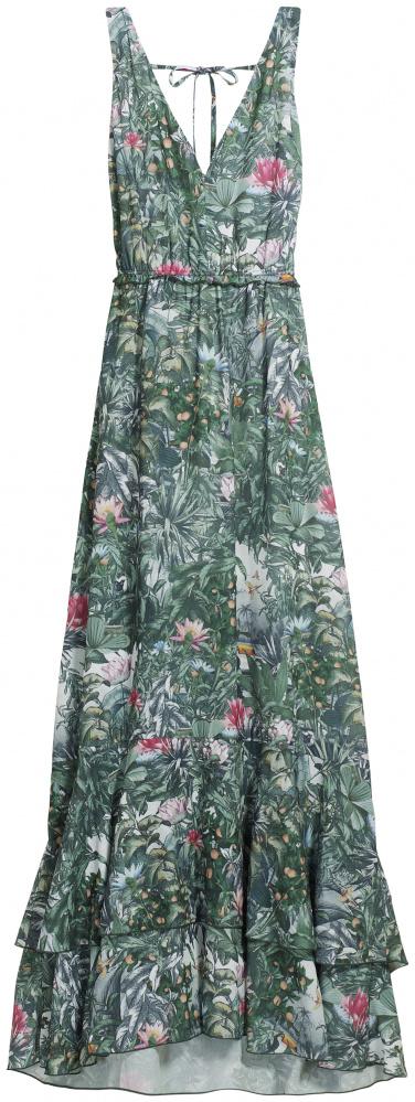H&M sukienka maxi w kwiaty las tropikalny 36...