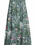 H&M sukienka maxi w kwiaty las tropikalny 36