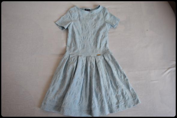 Piękna błękitna sukienka wesele chrzest itp 36 S Nor Bi