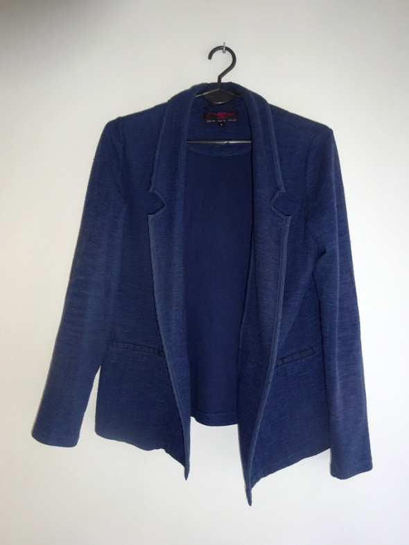 New Look granatowy sweter narzutka 36 S...