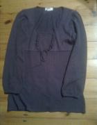 Fioletowa sweterkowa tunika rozmiar 3638...