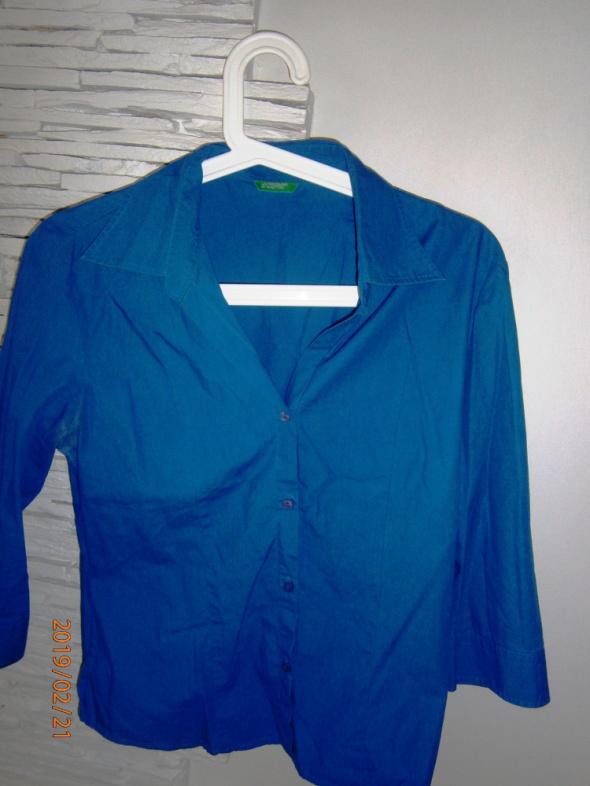 koszula szafirowa Benetton...