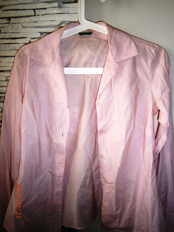 bladoróżowa koszula Benetton S...