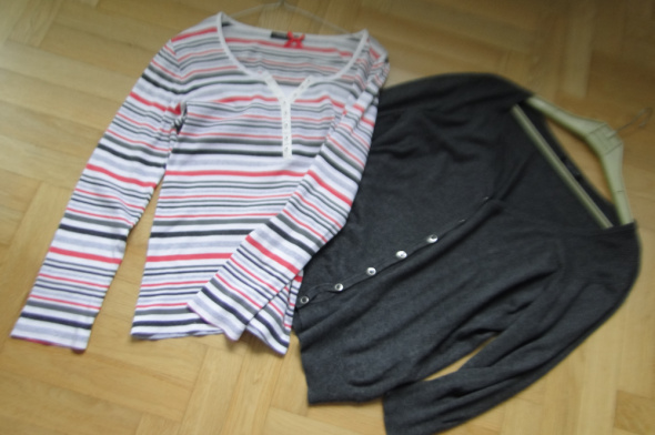 W zestawie taniej sweter i super bluzka XL...