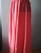 Idealna długa różowa spódniczka M...