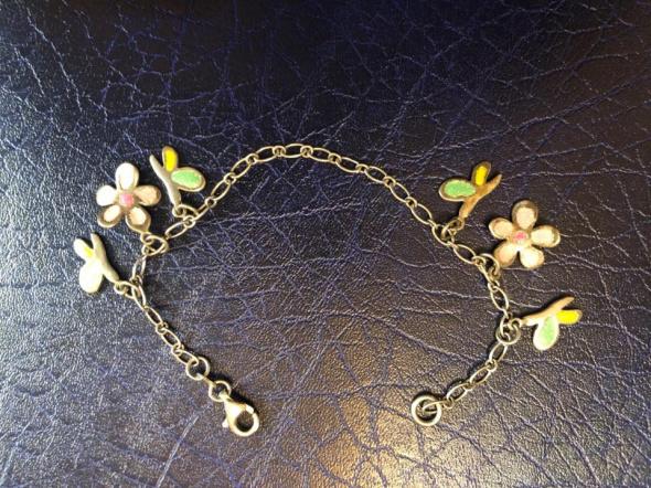 Przepiękna srebrna bransoletka 925