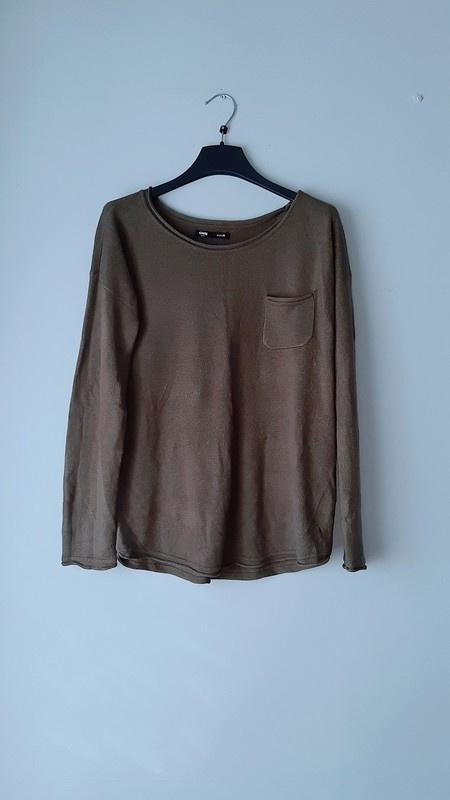 Idealny ciemnozielony sweterek M...