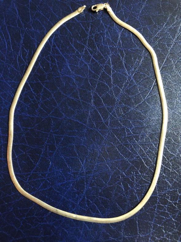Grubszy srebrny lańcuszek 925