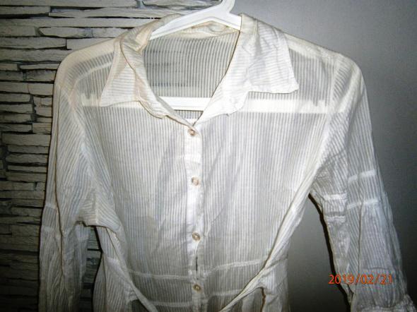 Bluzki biała długa koszula mgiełka M