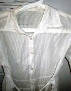 biała długa koszula mgiełka M