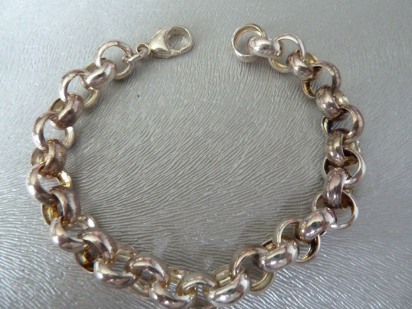 bransoletka kółeczka srebro