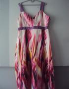 sukienka w kolorowe mazje...