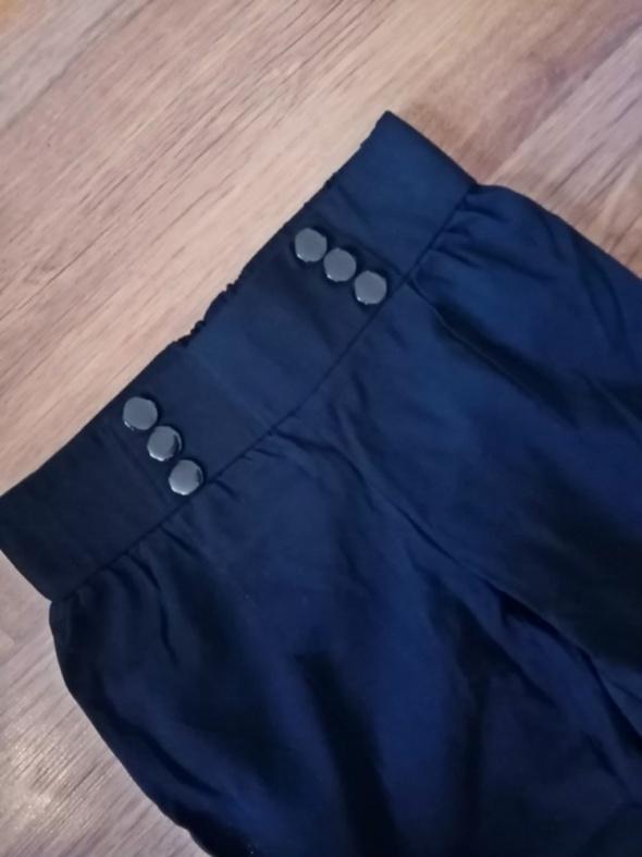 Spodnie Zanzea NOWE czarne rurki 36 38 z guzikami wysoki stan
