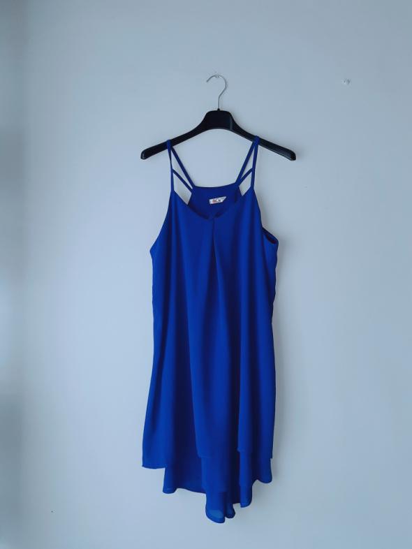Chabrowa sukienka na ramiączka S...
