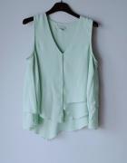 Idealna miętowa bluzka h&m L...