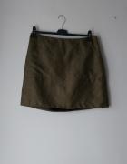 Idealna spódniczka ala zamszowa zielona khaki...