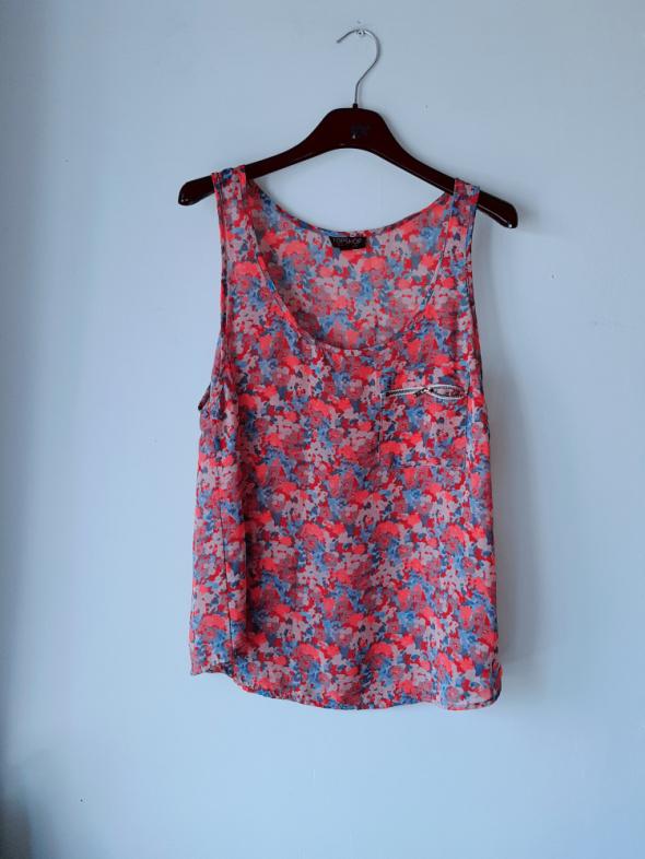 Idealna koszulka mgiełka kwiaty M...