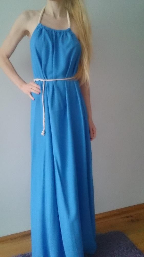 sukienka niebieska długa...
