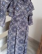sukienka midi river island wzór