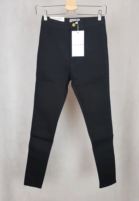 Nowe spodnie rurki obcisłe mega czarne American Apparel M L