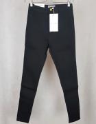 Nowe spodnie rurki obcisłe mega czarne American Apparel M L...