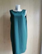 Sukienka ASOS butelkowa zieleń prosta elegancka 40 L