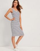 Nowa nieużywana sukienka elastyczna w paski marynarska S 36...