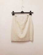 Simple spódnica ołówkowa kremowa prążek lato 34 XS...