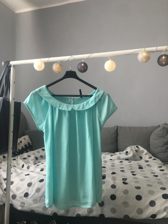 Elegancka turkusowa bluzka