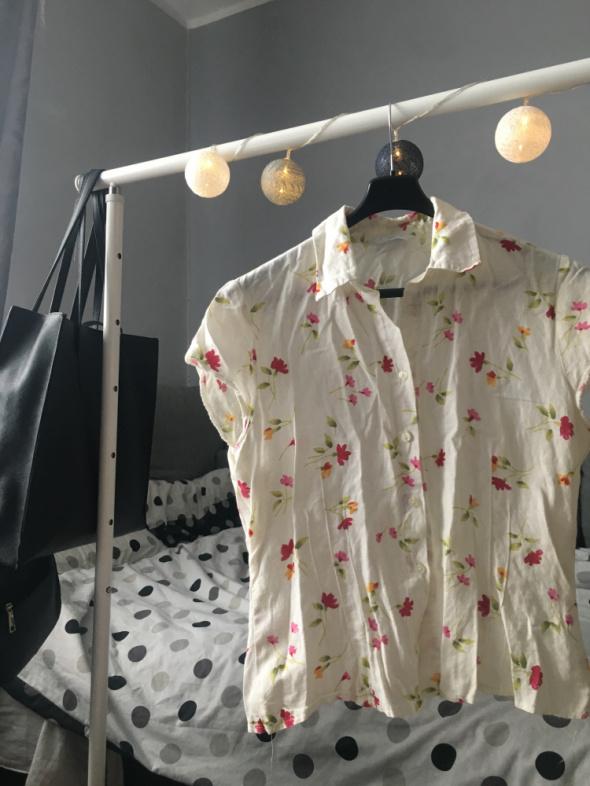 Bluzka lniana w kwiatki