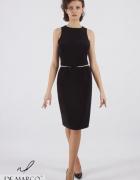 Nowoczesna sukienka mała czarna na wesele lub komunię De Marco...