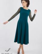Unikatowa sukienka w kolorze zielonym na wesele dla mamy De Mar...