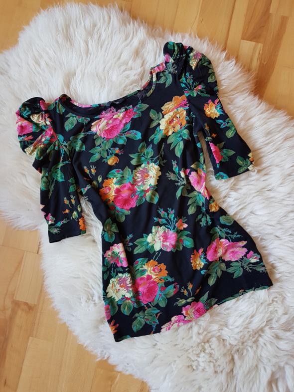 Bluzka w kwiaty z bufkami Bufki Floral George 36...