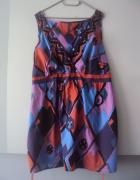 bawełnina sukienka we wzorki...