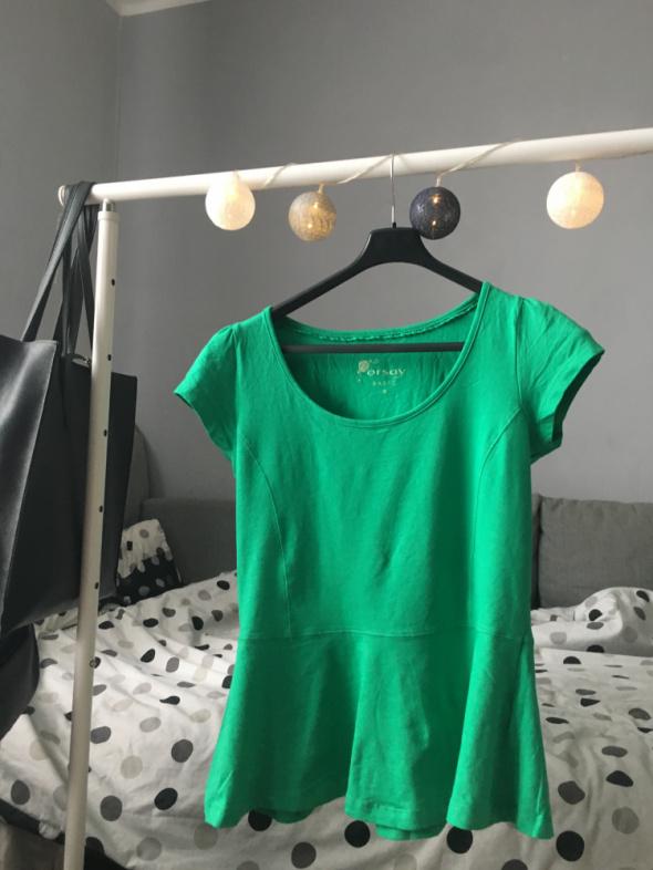 Śliczna bluzka Orsay z baskinką M L...