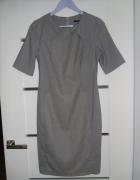 Elegancka szara sukienka...